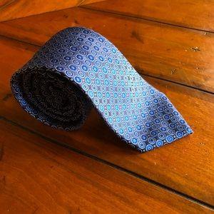 Eton | Silk Tie Made In Italy Blue circular print